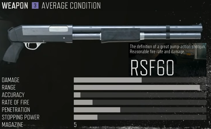 RSF60 stats location unlock