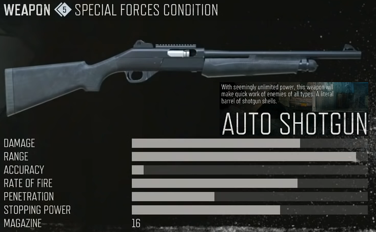 days gone auto shotgun stats location unlock