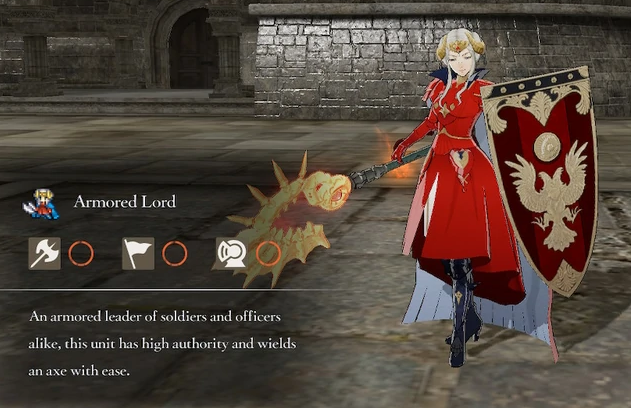 Fire Emblem Three Houses Armored Lord class