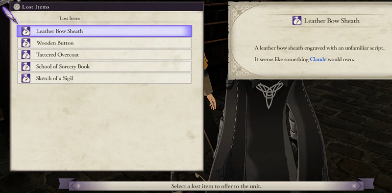 Fire emblem three houses lost items location list fe3h guide