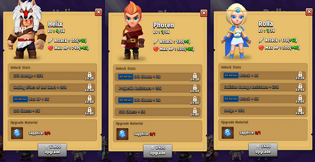 Archero Hero Upgrades Guide Attributes Level Up System