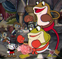 Cuphead Ribby and Croak