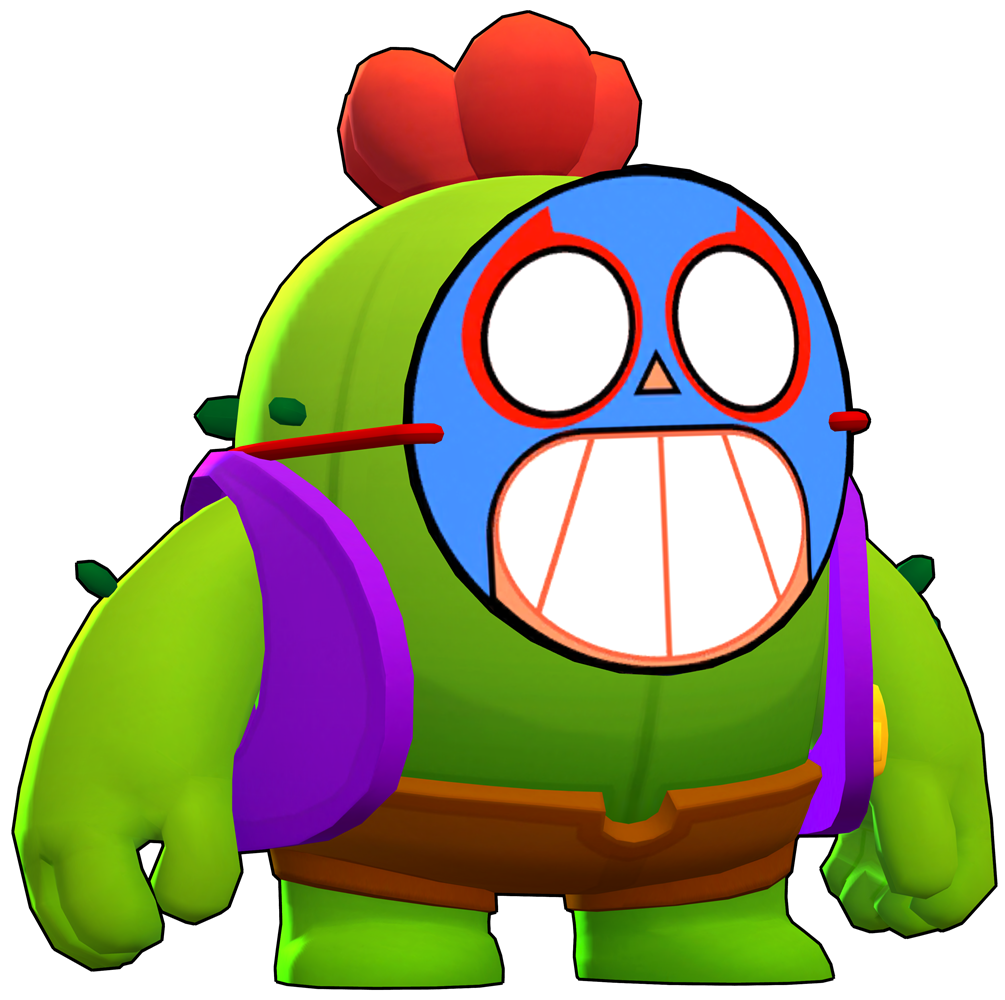 Brawl Stars Mask Spike Skin