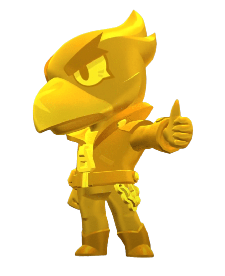 Brawl Stars True Gold Crow Skin