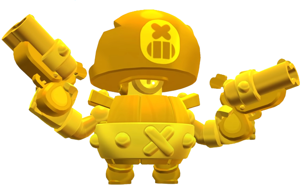 Brawl Stars True Gold Darryl Skin