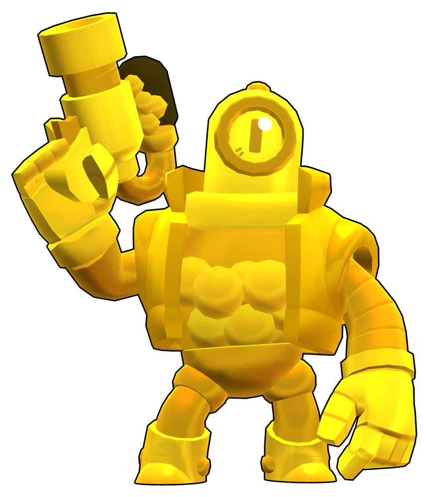 Brawl Stars True Gold Rico Skin