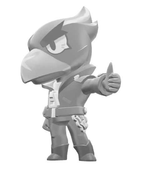 Brawl Stars True Silver Crow Skin