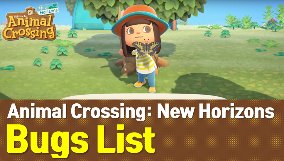 Animal Crossing New Horizons Bugs List (ACNH Wiki)