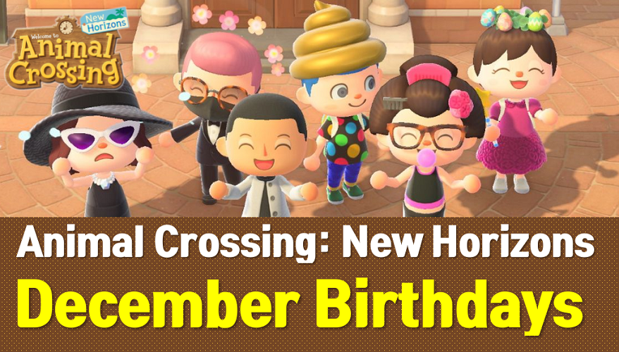 Animal Crossing New Horizons December Birthdays Acnh Wiki Owwya