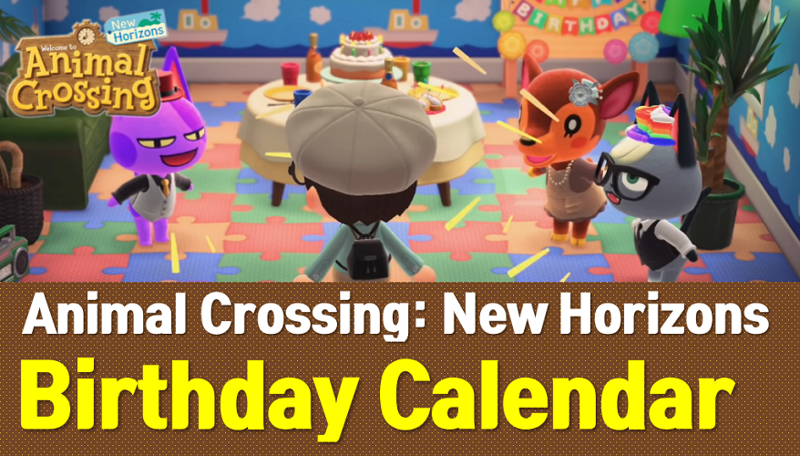 Animal Crossing New Horizons Villager Birthday Calendar Acnh Wiki